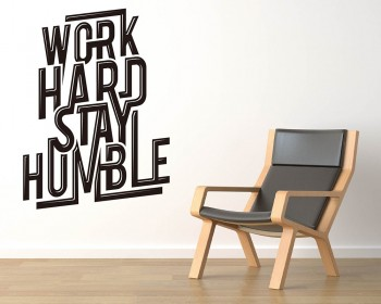 Work Hard Stay Humble Quotes Wall Decal Motivational Vinyl Art Stickers